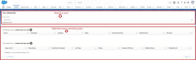 Scheduled Jobs Custom LWC Component