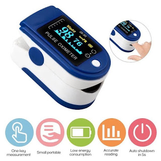LK88 Fingertip Pulse Oximeter SPO2 Ukur Kadar Oksigen Detak Jantung