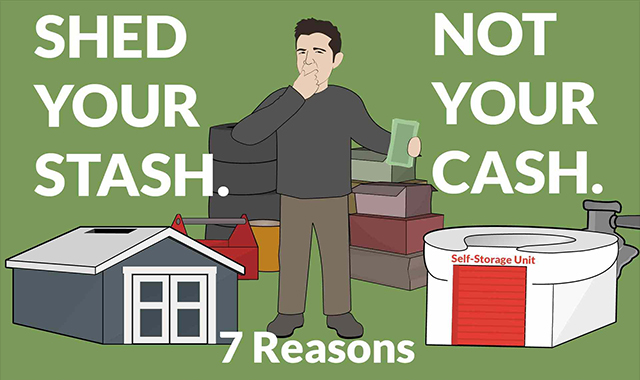 7 REASONS TO RENT A SHEDS AND GARAGES #INFOGRAPHIC