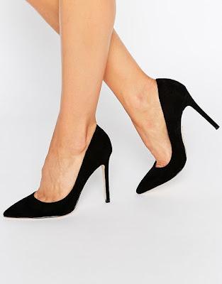 zapatos negros para vestido blanco