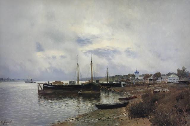 Исаак Ильич Левитан - После дождя. Плёс. 1889