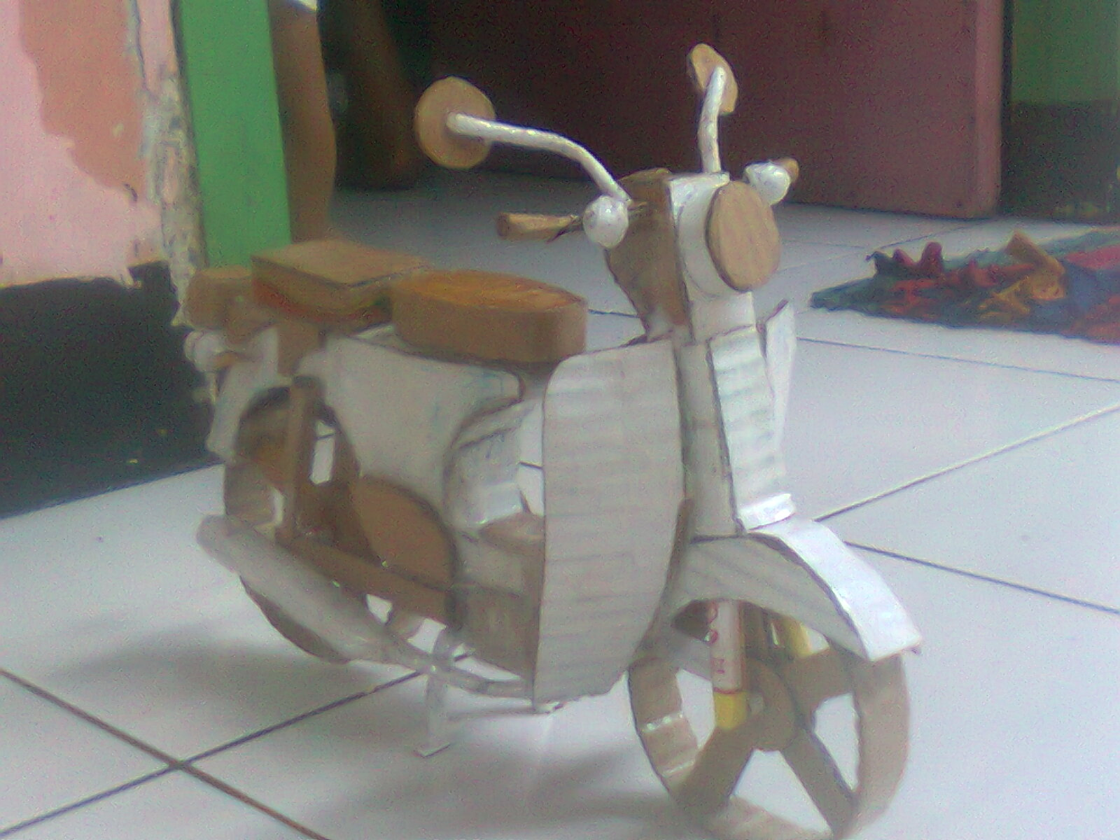 Jual Miniatur Vespa Bambu Kab Banyumas Maz Alim Tokopedia