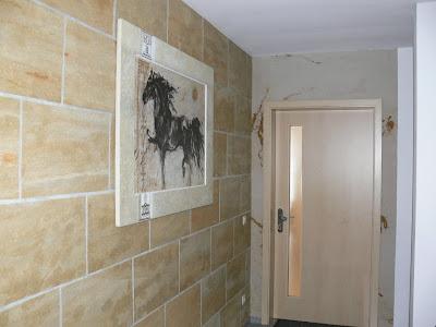 papier peint effet pierre. Black Bedroom Furniture Sets. Home Design Ideas