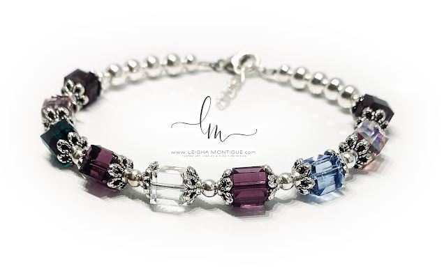 9 Birthstone Bracelet - January, June, May, February, April, February, December, October, January