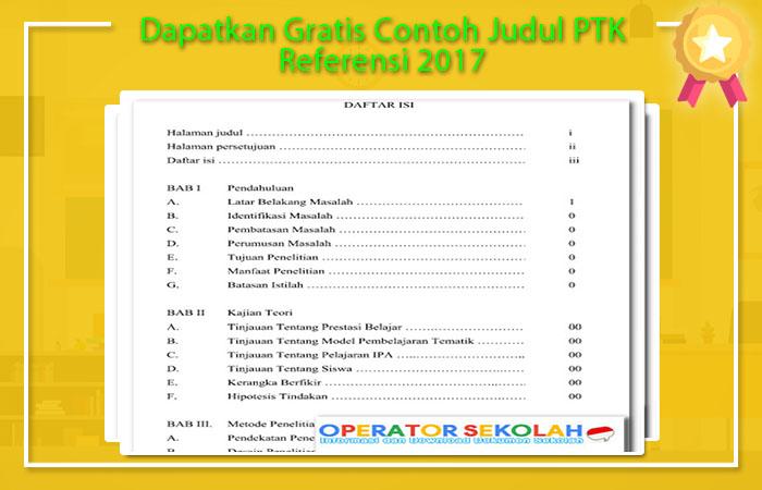 Contoh Judul PTK Referensi 2017