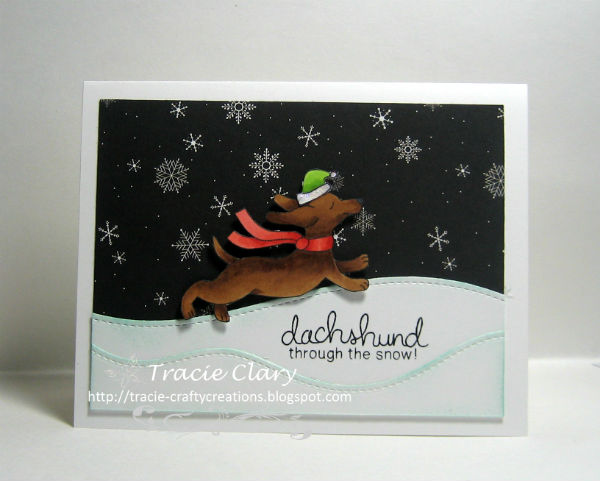 Dachshund through the Snow by Tracie features Holiday Hounds by Newton's Nook Designs; #newtonsnook