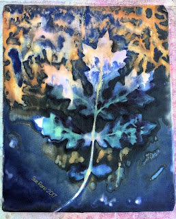 Wet cyanotype, Sue Reno, Image 46