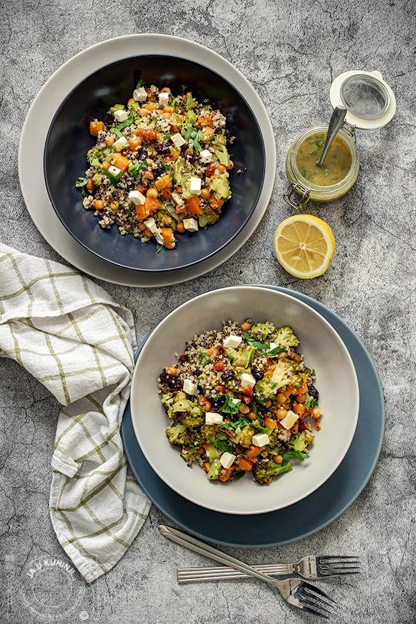 Kinoa salata sa brokolijem, batatom...i prelivom od tahinija