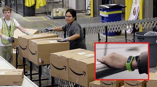 Amazon patentan una pulsera que permite rastrear las manos de un trabajador para controlar el rendimiento
