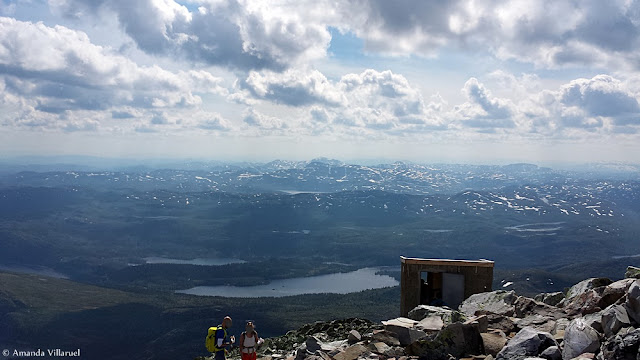 Superb, clear view from Gaustatoppen, Norway