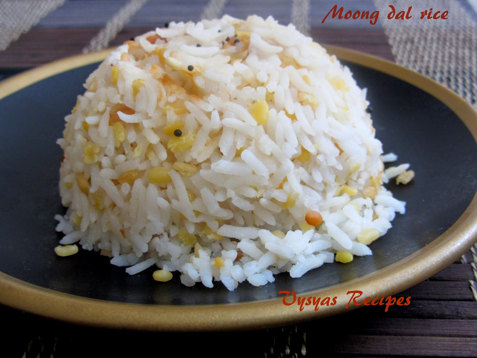 Moongdal rice
