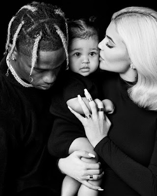 Kylie with partner Travis Scott and baby Stormi