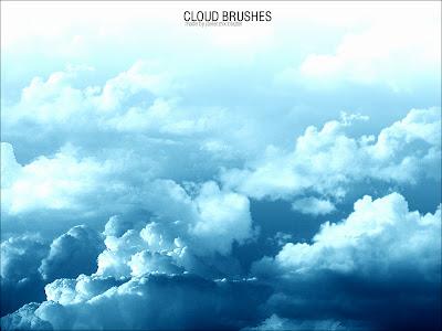10 pinceles photoshop nubes