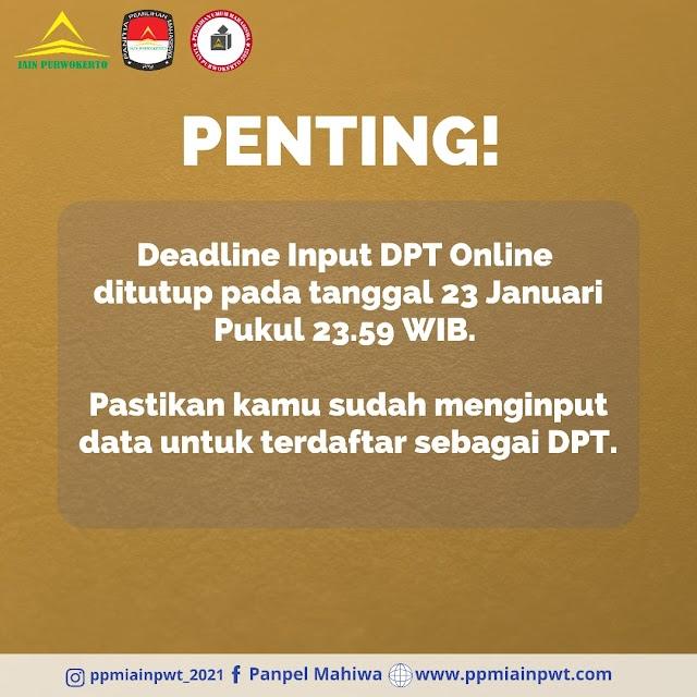 Pastikan Dirimu Sudah Input DPT Online yah, Berikut Tenggat Waktunya