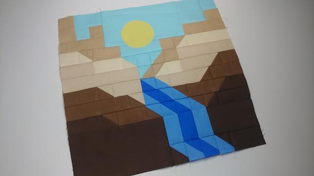 Canyon quilt block for the Destination Quilt Along