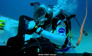 Nasa astronauts training underwater, what's trending