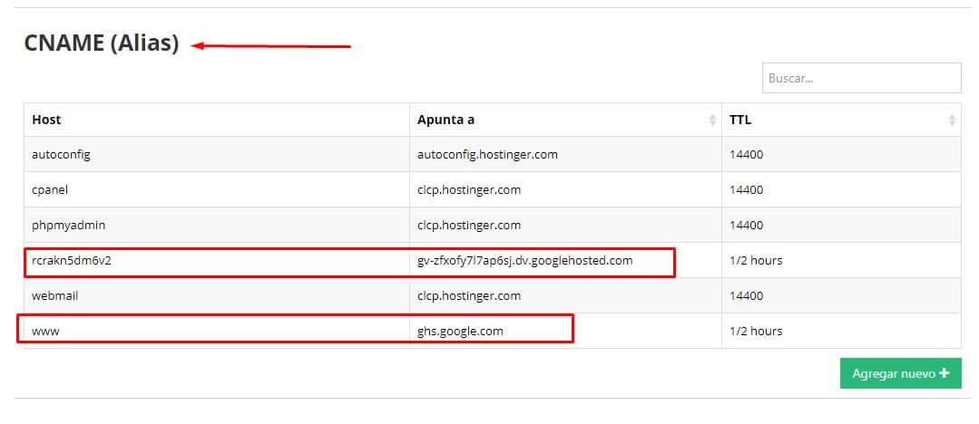 Configurar dominio personalizado en blogger con hostinger