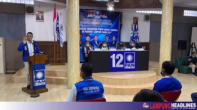13 DPC, 216 Ranting Dan Fraksi PAN Dukung Kembali Tedi Kurniawan Sebagai Ketua DPD Tanggamus