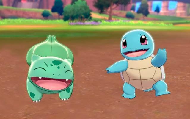 Pokémon Sword/Shield (Switch) tem distribuição de Squirtle e Bulbasaur com Gigantamax