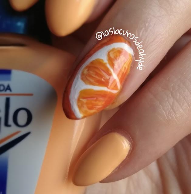 nail art naranja detalle