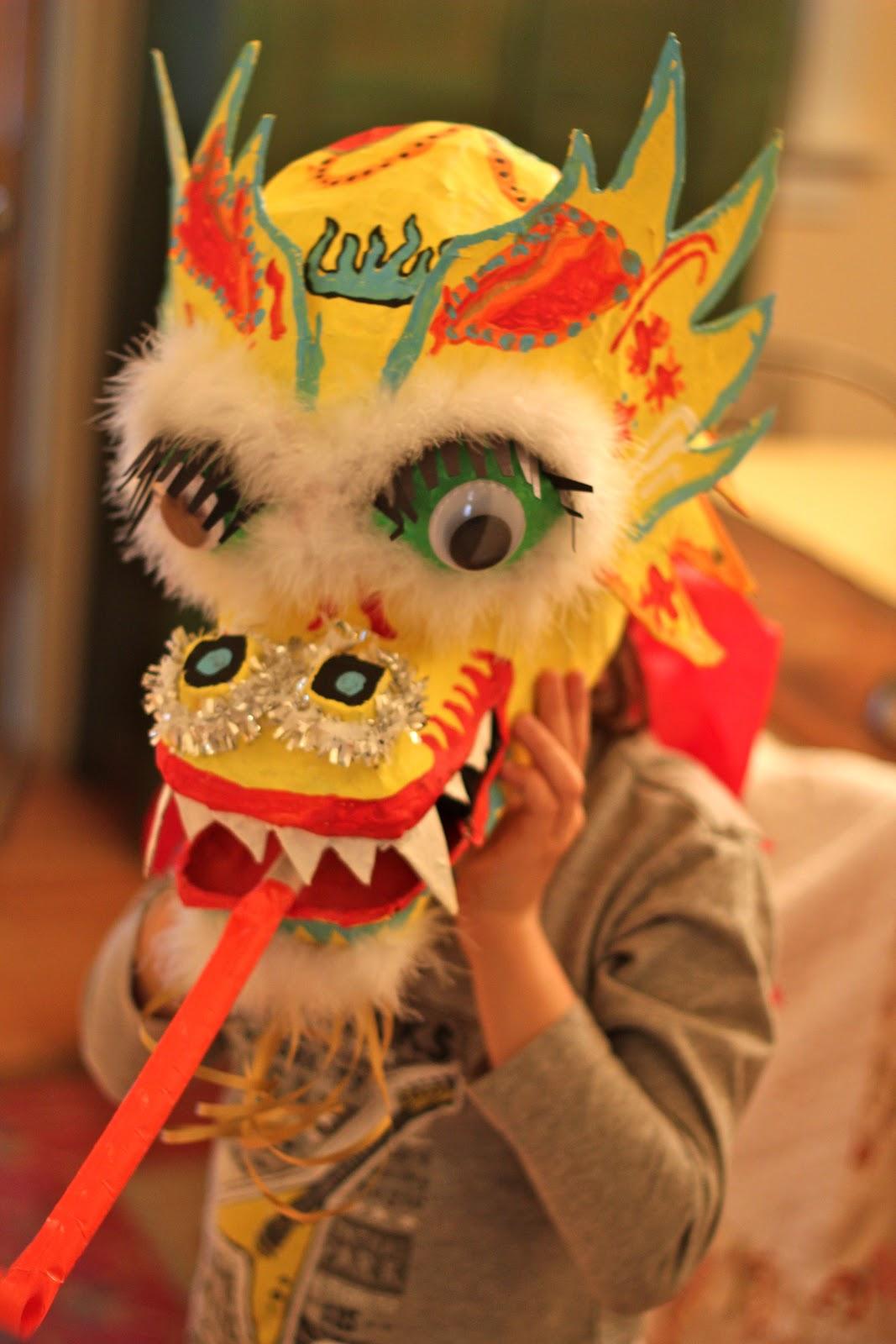 Back On Festive Road Chinese Dragon Mask