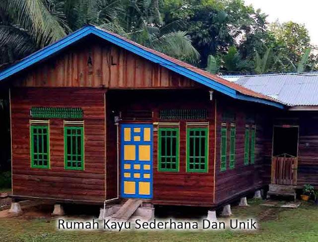 rumah kayu sederhana dan unik