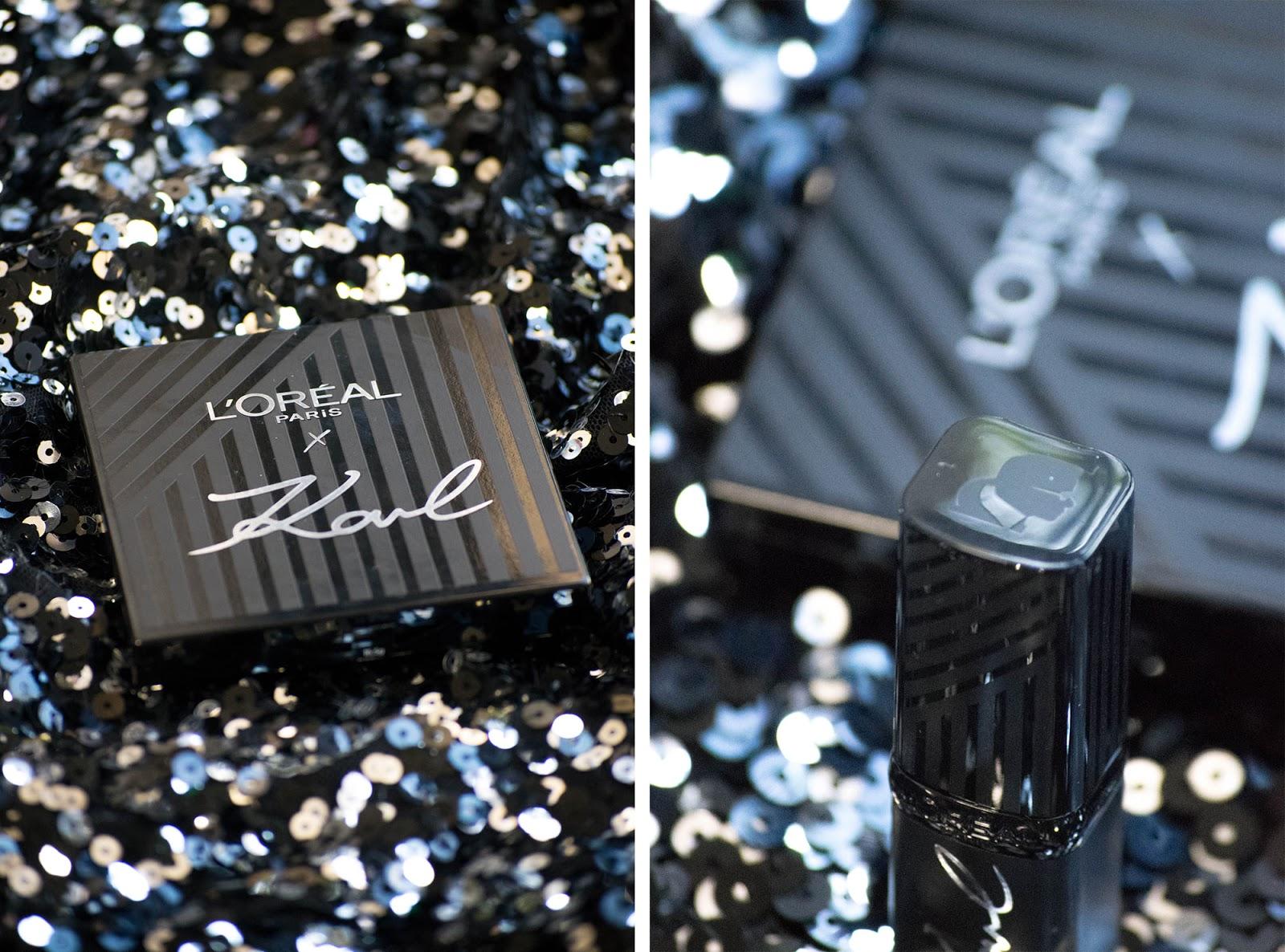 Karl Lagerfeld x L'Óreal Paris packaging
