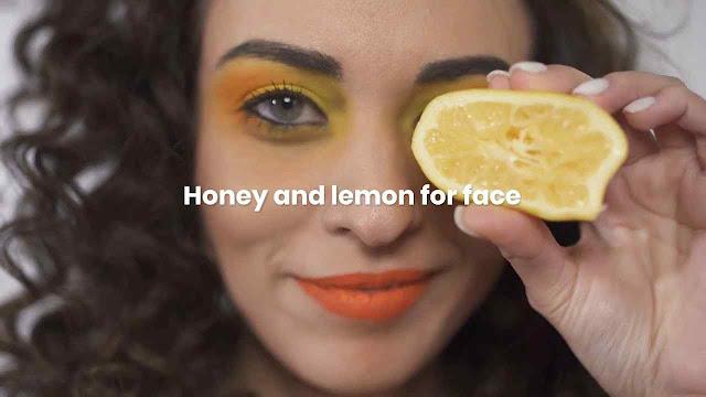 Honey and lemon for face