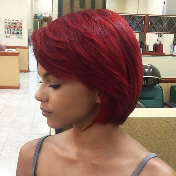 Adorable Bob Haircuts In Red Colors Omg Love Beauty
