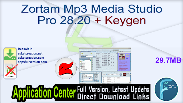 Zortam Mp3 Media Studio Pro 28.20 + Keygen