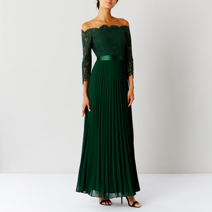 Bridesmaid wedding guest fashion wish list beauty and for Emerald green dress wedding guest