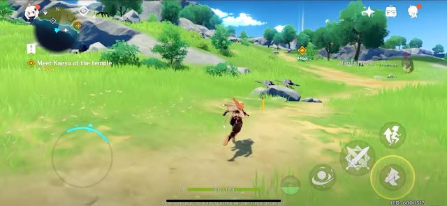 Screenshot Gameplay Genshin Impact Android