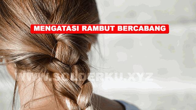 CARA MENGATASI UJUNG RAMBUT BERCABANG TANPA DIPOTONG
