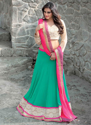 stylish-turquoise-lehenga-choli-for-wedding-reception