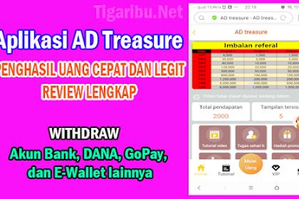 Aplikasi AD Treasure Penghasil Uang Cepat Dan Legit, Review Lengkap