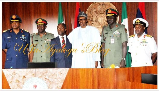 BREAKING: Buhari extends tenure of all service Chiefs