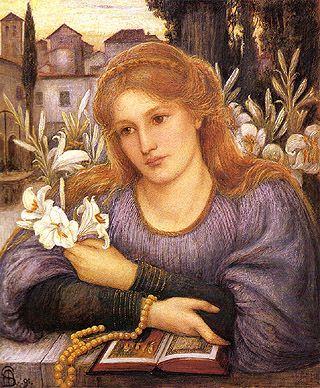Спартали (Стиллман) Мари Эуфросиния  Marie Euphrosyne Spartali позже Stillman  Лили в монастыре (1891)