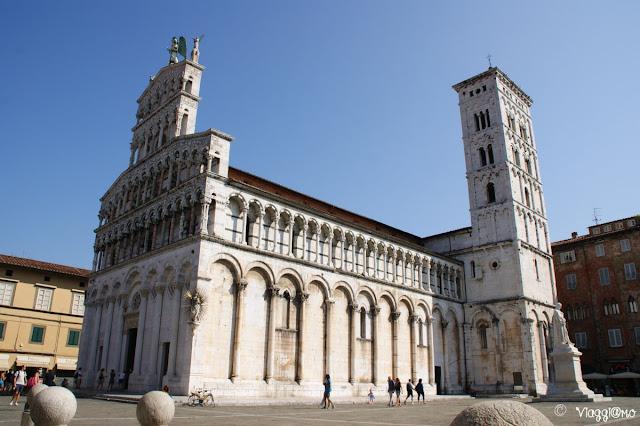 La Chiesa di San Michele è tra le più scenografiche di Lucca
