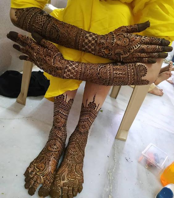 arabic mehndi designs fro bridal