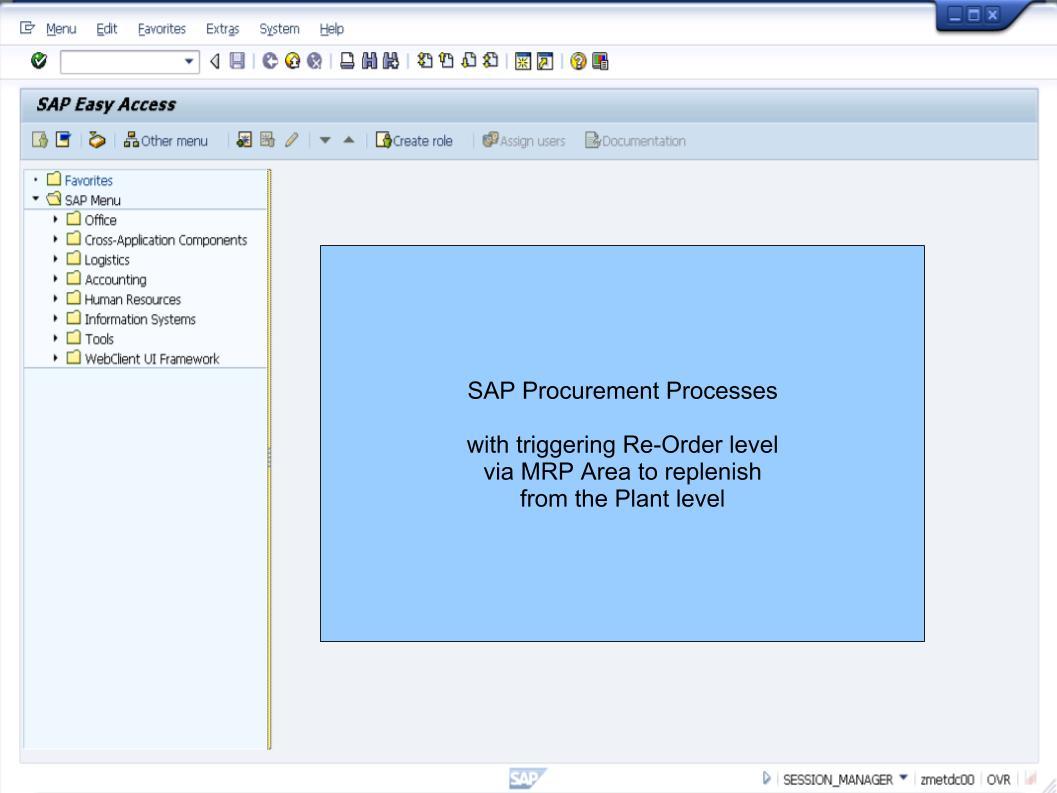 青蛙SAP分享 Learning & Examination: MRP Area Replenishment from