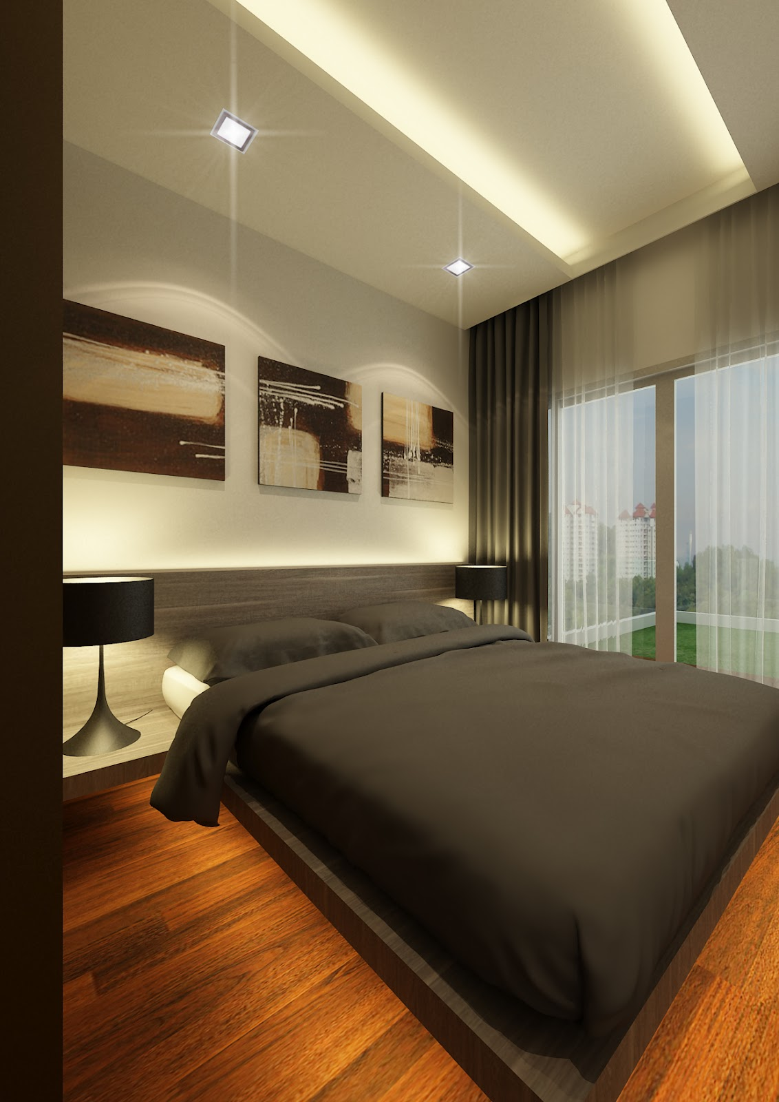 Rezt & Relax Interior Design: Double Bay Residences 3D
