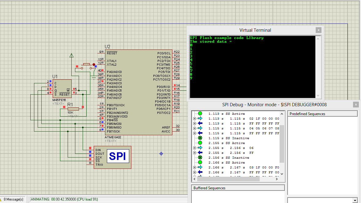 Interfacing M45PE16 SPI Flash to ATMEGA32 | Embedded Linux