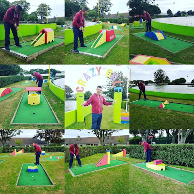Crazy Golf at Onchan Pleasure Park on the Isle of Man