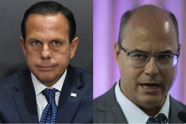 Doria e Witzel planejam unir forças para disputa de eleições municipais