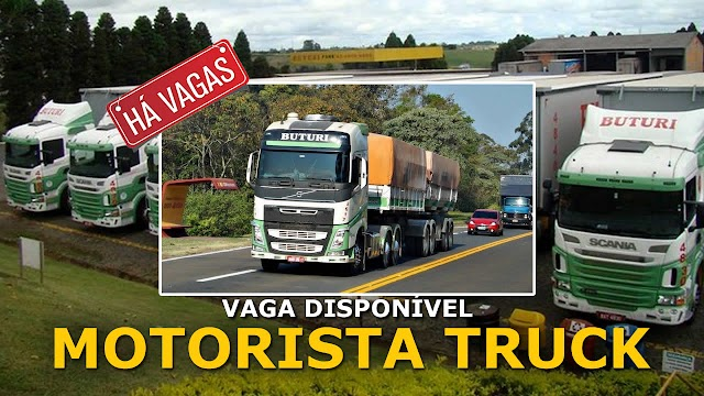 Transportadora Buturi abre vagas para Motorista Truck