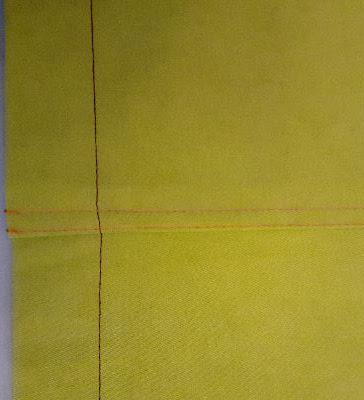 Jeansstof doorgestikt met Polycore Cotton