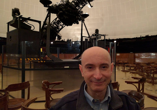 Paolo Amoroso at the Planetarium of Milan, Italy