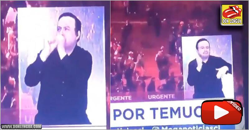 La traducción en lenguaje de señas de una protesta en Chile