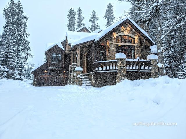 Bear Tracks Lodge in Breckenridge, Colorado during the winter storm