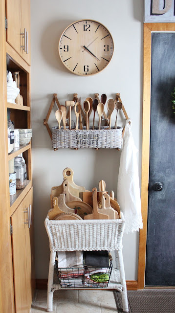 A Quick And Simple Farmhouse Basket Re-Do From Itsy Bits And Pieces Blog
